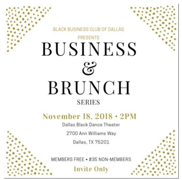 Black Business Club Brunch: November 18, 2018