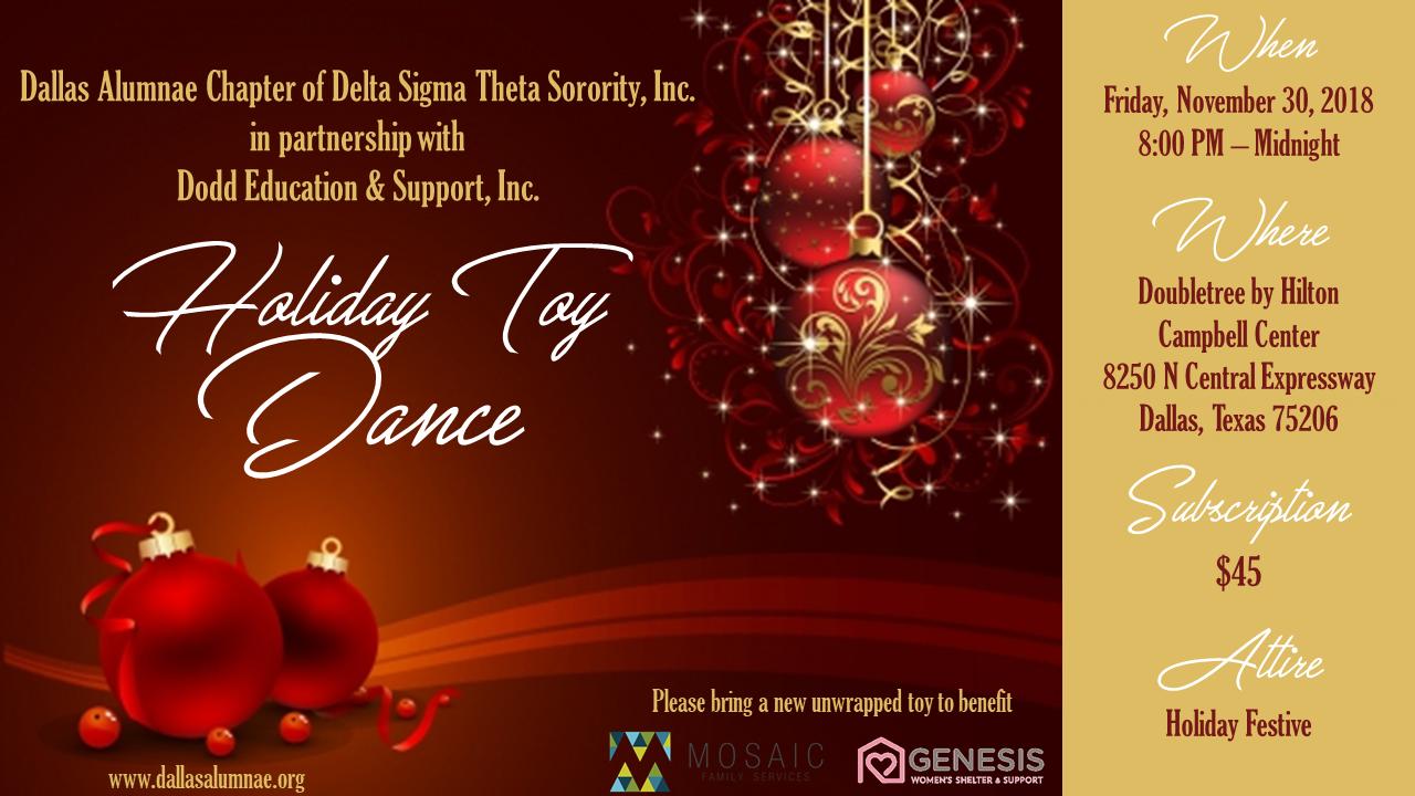 2018 Holiday Toy Dance: November 30, 2018