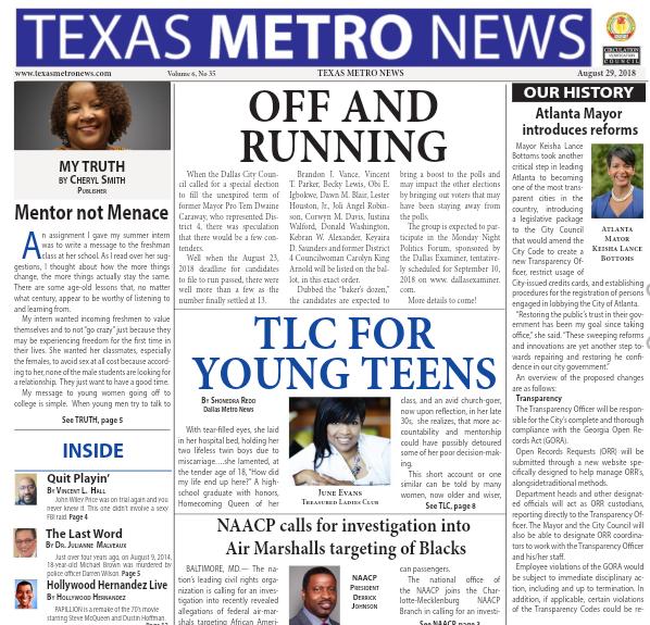 Texas Metro News: 8/29/18