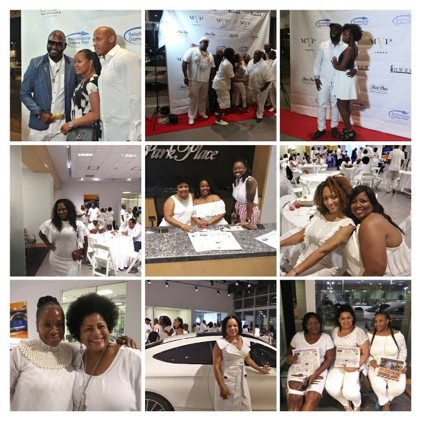 3rd Annual All-White NFL Kick-off Party at Park Avenue Motors in Arlington collage