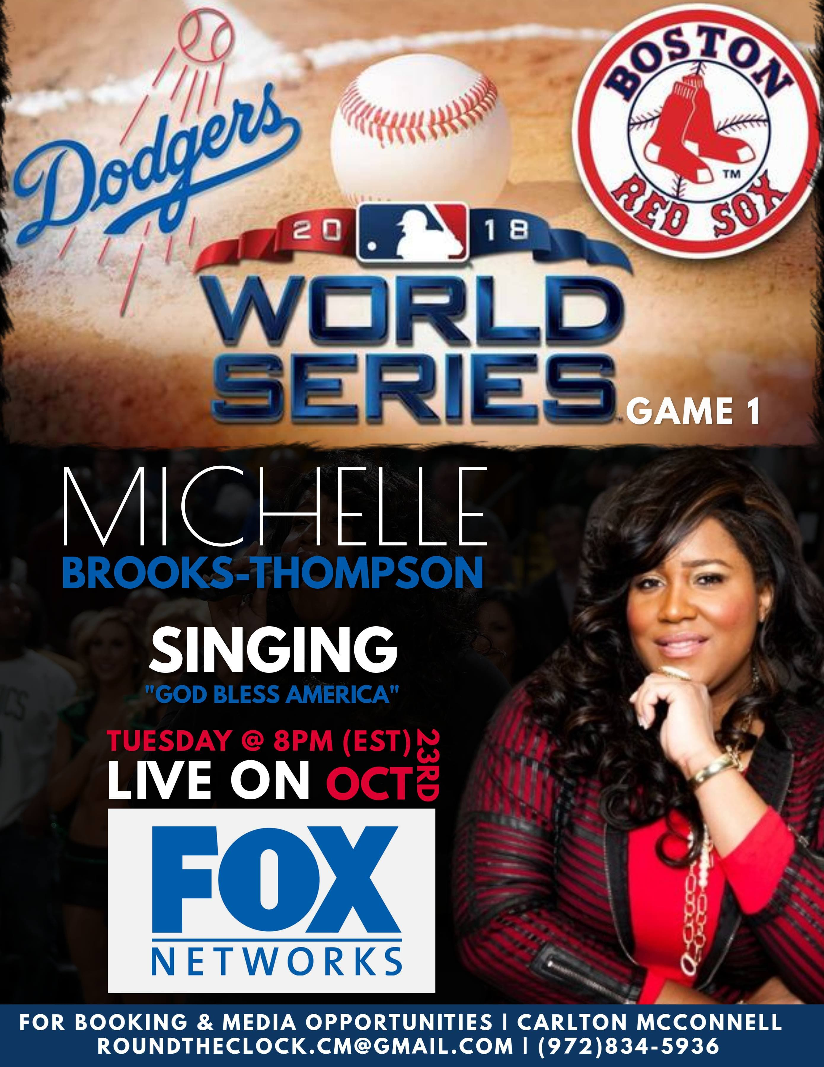 Michelle Brooks-Thompson to Perform During Game 1 of the World Series