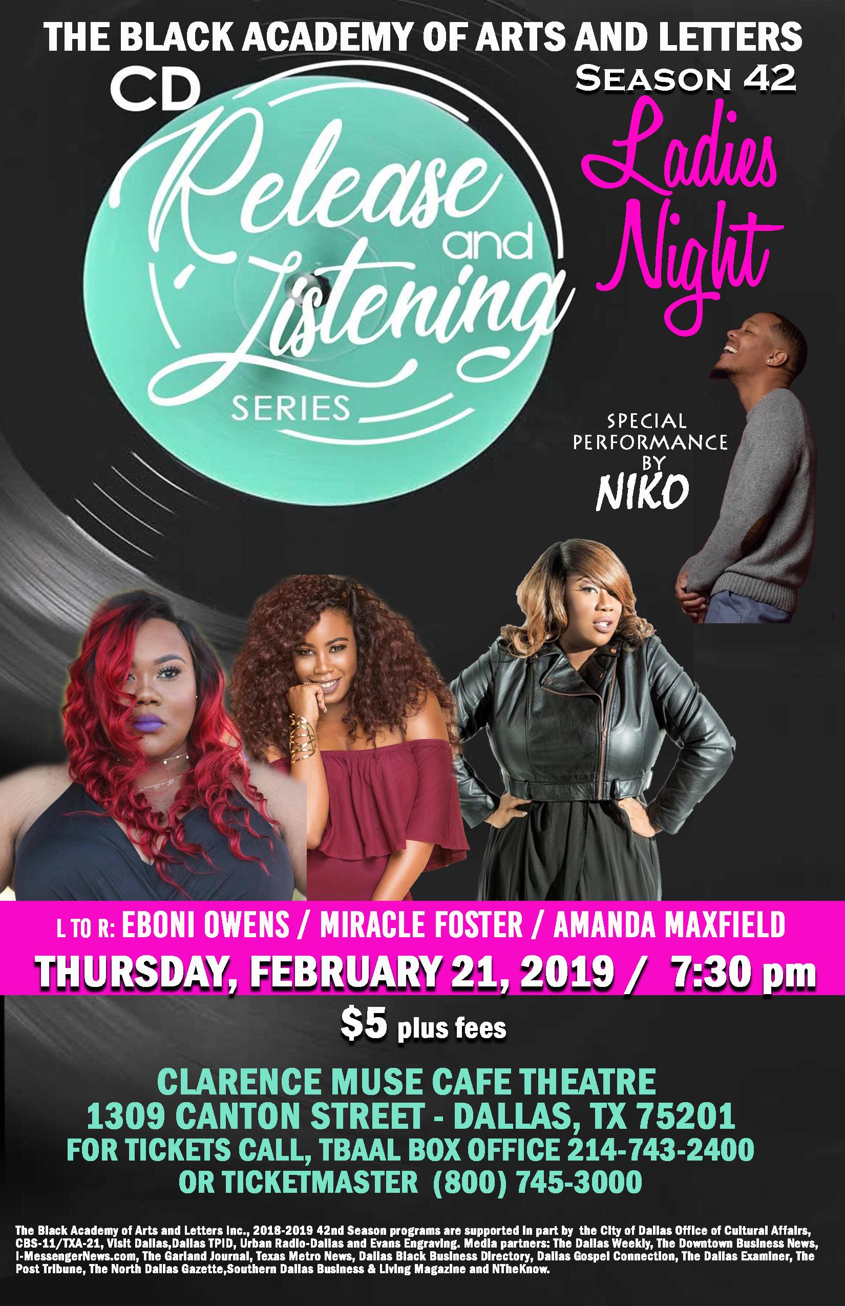 TBAAL's Ladies Night: February 21, 2019