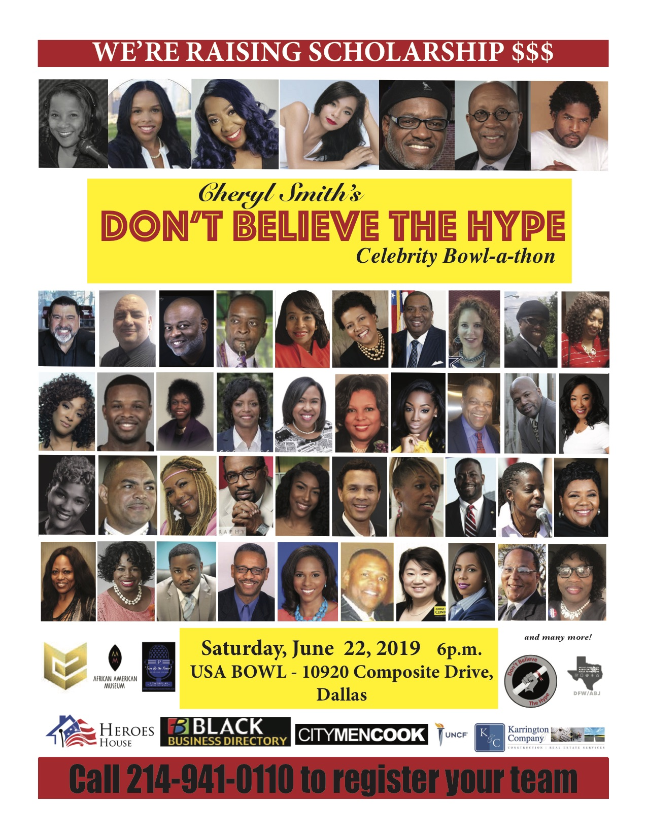 Don't Believe the Hype Celebrity Bowl-a-Thon: June 22, 2019