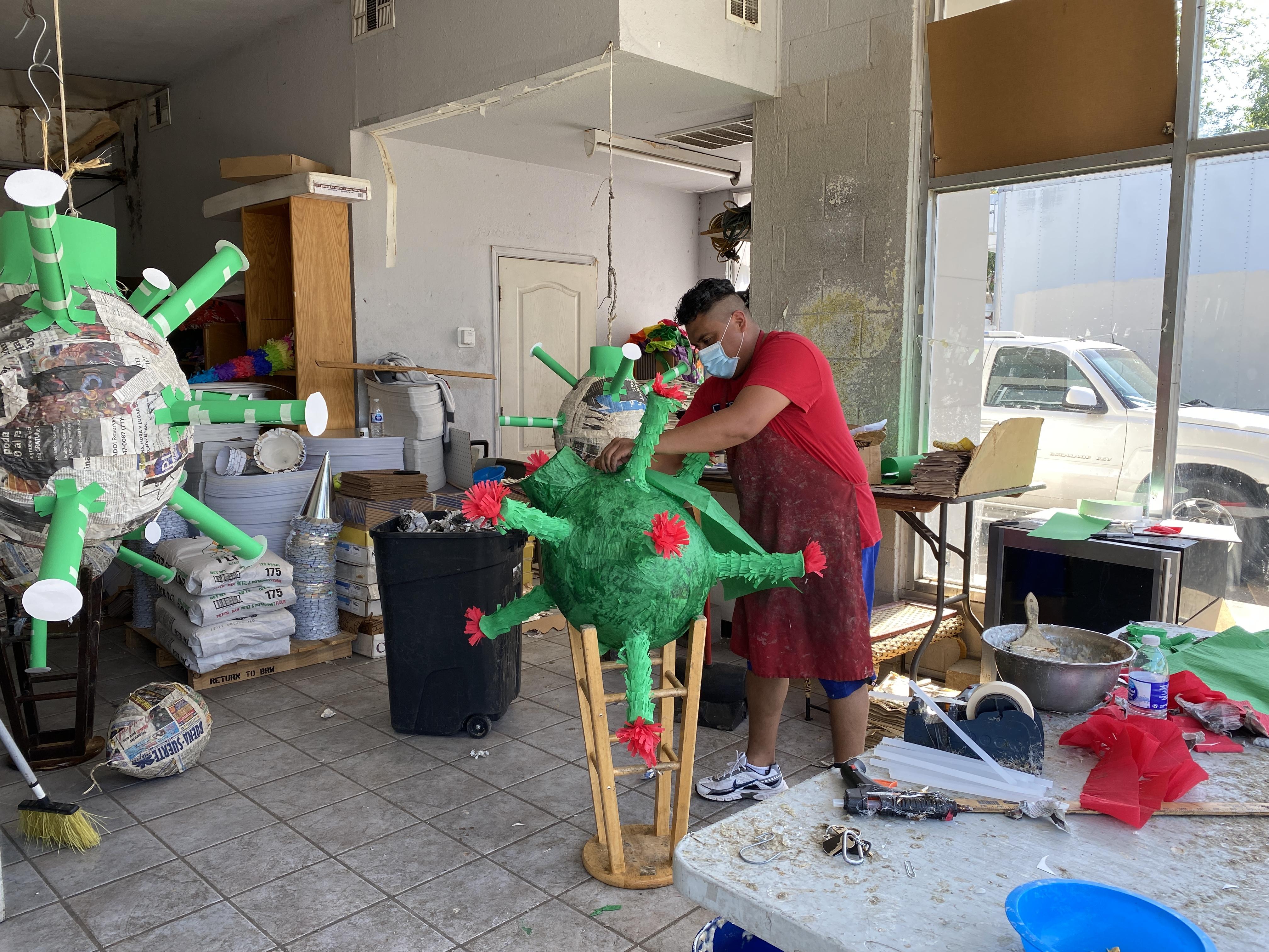 Coronavirus Piñatas are Big Business for Store That Reopens