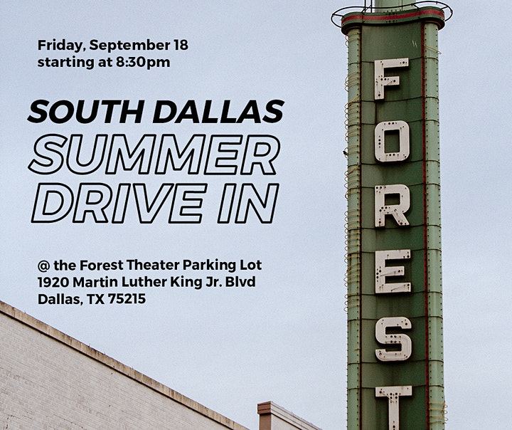 South Dallas Summer Drive-In Event