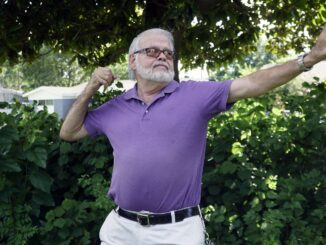 Richard Giltner practices qi gong outside his Fort Worth home. He credits the meditative exercise with reducing the stress of caring for his wife, a cancer patient. (Lawrence Jenkins/Special Contributor)