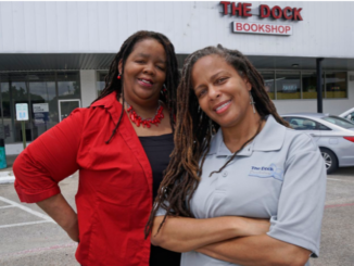 The Dock Bookshop owners Donya (left) and Donna Craddock at the store in Fort Worth, Texas on Thursday, July 23, 2020. (Lawrence Jenkins/Special Contributor)