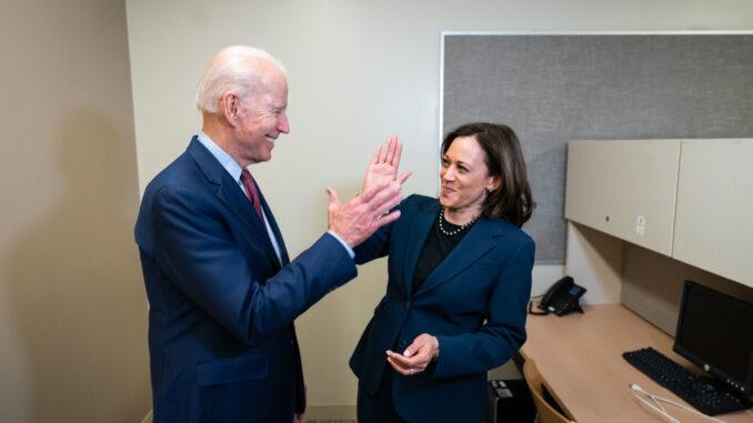 Former VP Joe Biden and Sen. Kamala Harris