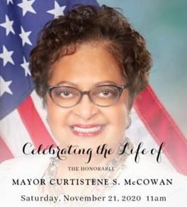 Desoto Plans November 21st Virtual Celebration to Honor The Life of Mayor Curtistene S. Mccowan