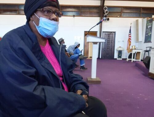 Rosie Johnson, 71, pictured in the worship center of the New Mount Rose Baptist Church on Thursday, said she needs answers, and soon, in her son's death.