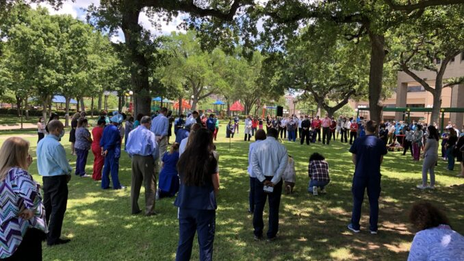 Scottish Rite for Children held an event to honor George Floyd on June 4. (Scottish Rite for Children)