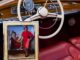 A rare 1959 Mercedes-Benz 300 D Cabriolet custom-ordered and owned by American jazz great Ella Fitzgerald is now for sale by California dealership Scott Grundfor Co. Fitzgerald once posed with the car for a famous photograph by Annie Leibovitz. A copy of the photo comes with the car. (Stephen Heraldo/Scott Grundfor Co.)