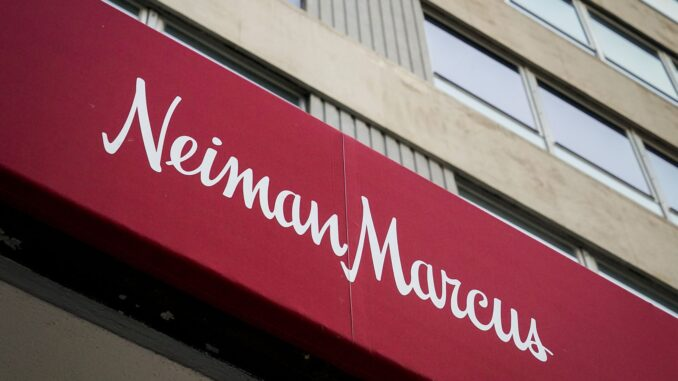 Exterior view of the Neiman Marcus flagship store on Main Street downtown on Thursday, Aug. 13, 2020, in Dallas. (Smiley N. Pool/Staff Photographer)