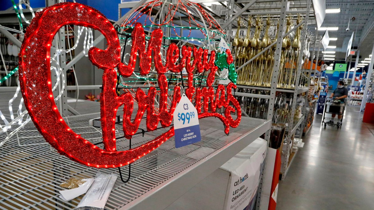A Large Christman Sign