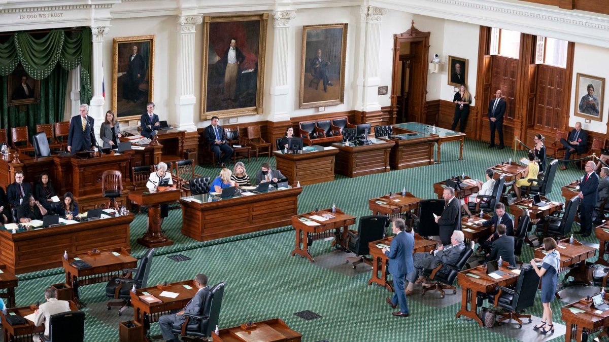 The Texas Senate meets for about an hour and a half during the first called special